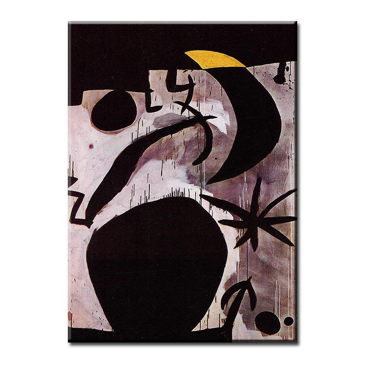 Birds-in-the-Night-in-black-joan-Miro-Wall-painting-print-on-canvas-for-home-decor