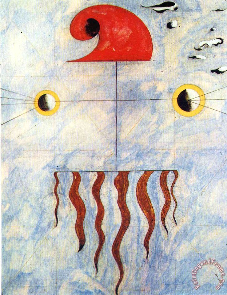 Head of a Catalan Peasant 2 Painting by Joan Miro; Head of a Catalan Peasant 2 Art Print for sale