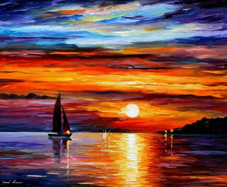 QUIET_SUNSET___LEONID_AFREMOV_by_Leonidafremov